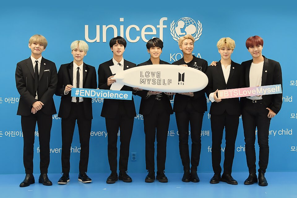 Indeed, @BTS_twt and ARMYs are the best promoters of #LOVE_YOURSELF #ENDViolence  campaign for UNICEF  #BTSxARMY<br>http://pic.twitter.com/c4ab10kDHU