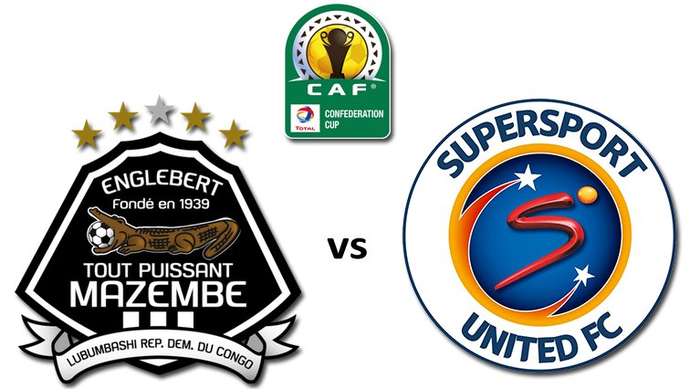 SuperSport United and TP Mazembe will meet for the third time this year when they go toe-to-toe in the first leg final of the CAF Confederations Cup.
