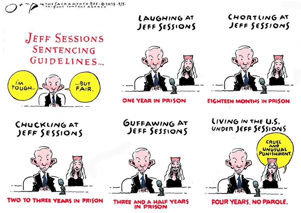 #JeffSessions is a hypocrite &amp; a liar. Seeing him make jokes today about whether #Kislyak or Russians were in attendance made me feel ill.  #Sessions watched as a woman was put through the ringer for LAUGHING at him but LAUGHS about his lies under oath.  #TrumpRussia #Maddow<br>http://pic.twitter.com/kzUG1t2PUf