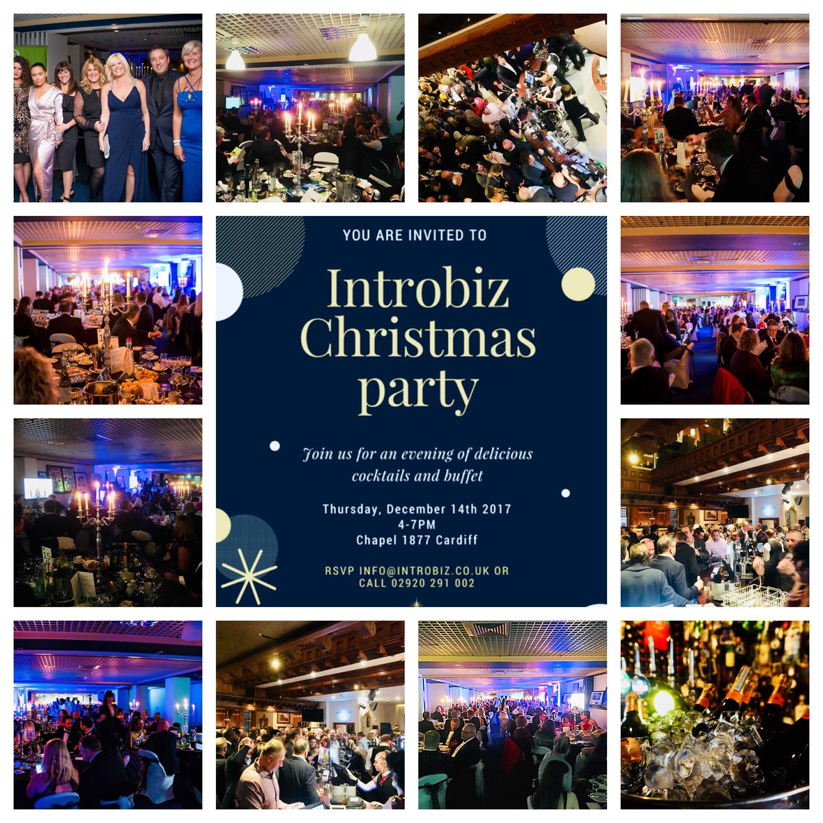If you missed this month&#39;s #Introbiz #VIP #AfterParty &amp; #BeaujolaisDay with over 500 #businesses join us at our Christmas Party on Thursday 14th December 4-7pm @chapel1877bar #Cardiff all visitors are most welcome to attend tickets £20.00  http://www. introbiz.co.uk/events/  &nbsp;  <br>http://pic.twitter.com/wLmgX89Ps4