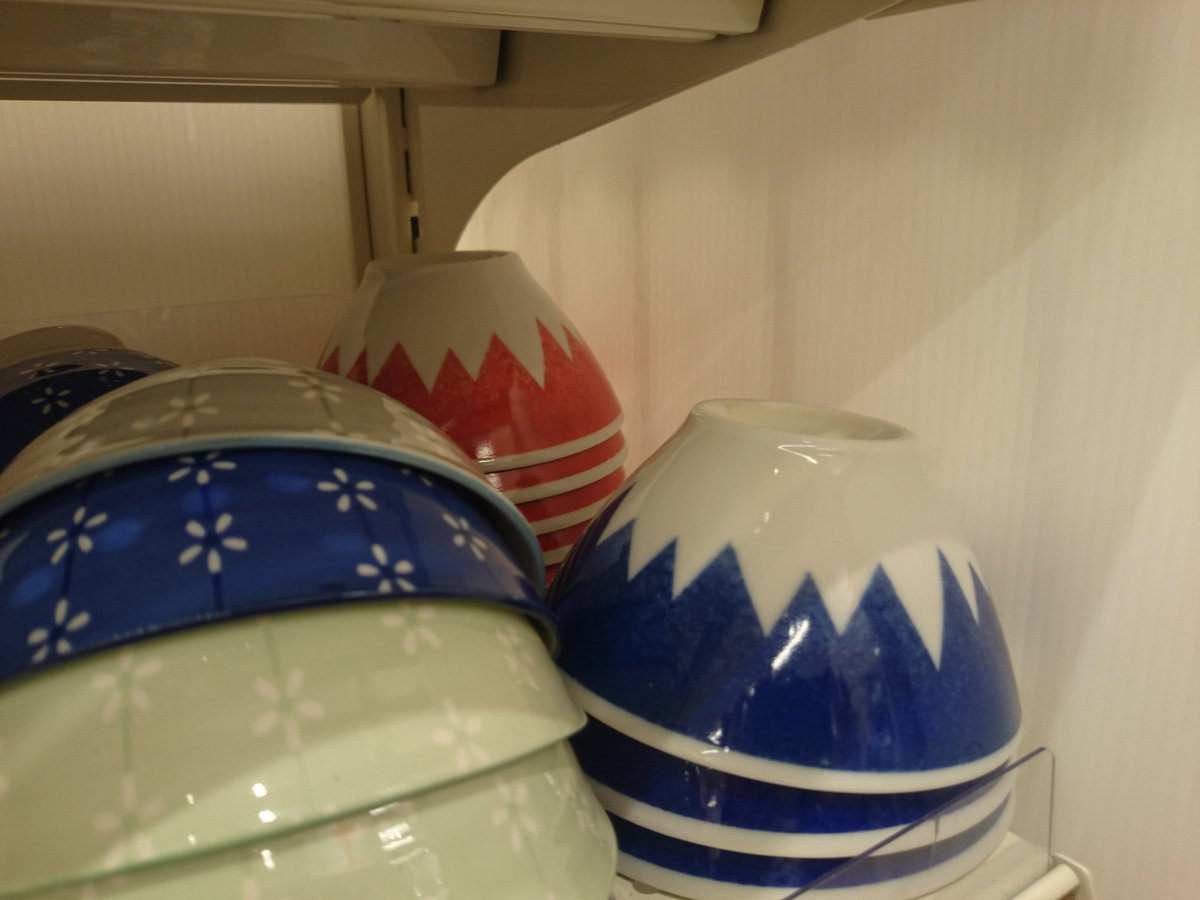 test ツイッターメディア - お揃いの富士茶碗は100均で買えますよ(?∀?)ノ 私も使ってまーす。  #泥棒役者 #キャンドゥ https://t.co/hsI2scTnd6
