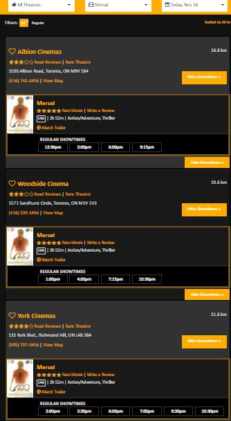 Blockbuster #Mersal 5th Weekend in #Canada at 3 Locations with 14 Shows a day. Raging at Box-office even after 30+ Days!  @actorvijay  @Hemarukmani1 @Atlee_dir @ThenandalFilms<br>http://pic.twitter.com/w23ng8WOKh