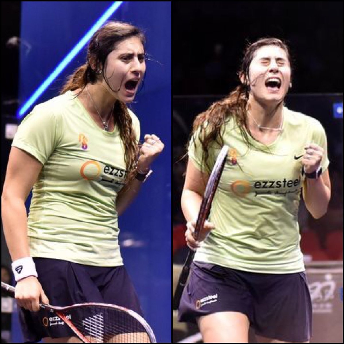 @noursherbini  Fight Fight... Even if its not your day. Through to the Hong Kong 🇭🇰 Final #ezzsteel #tecnifibre #brqthru #teamsherb