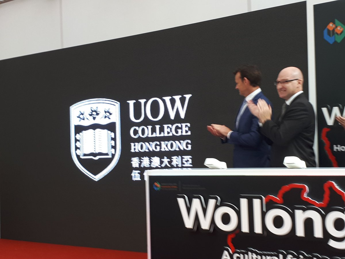 "Christian Ritz on Twitter: ""Great to be in Hong Kong for the Wollongong  cultural fair and official unvailing of UOW College Hong Kong, our new name  for our partnership with CCCU HK. @"