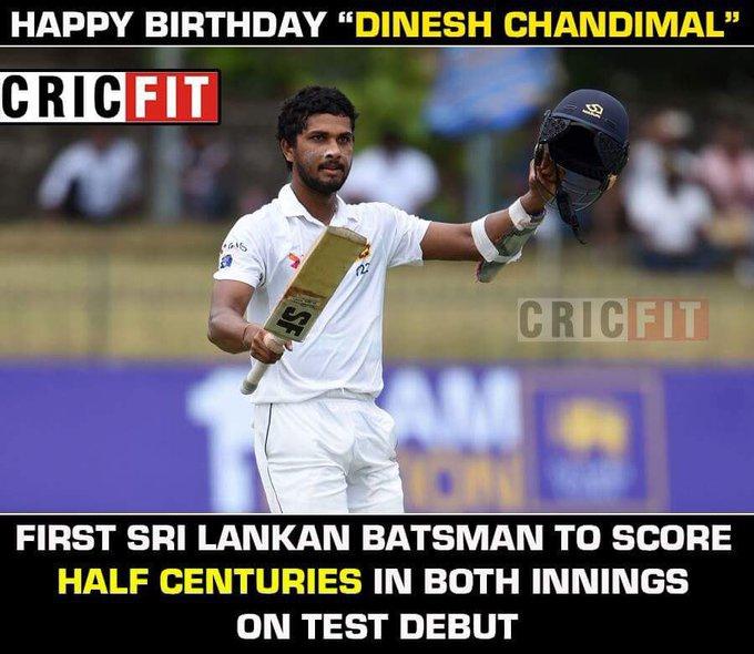 Happy Birthday Dinesh Chandimal.