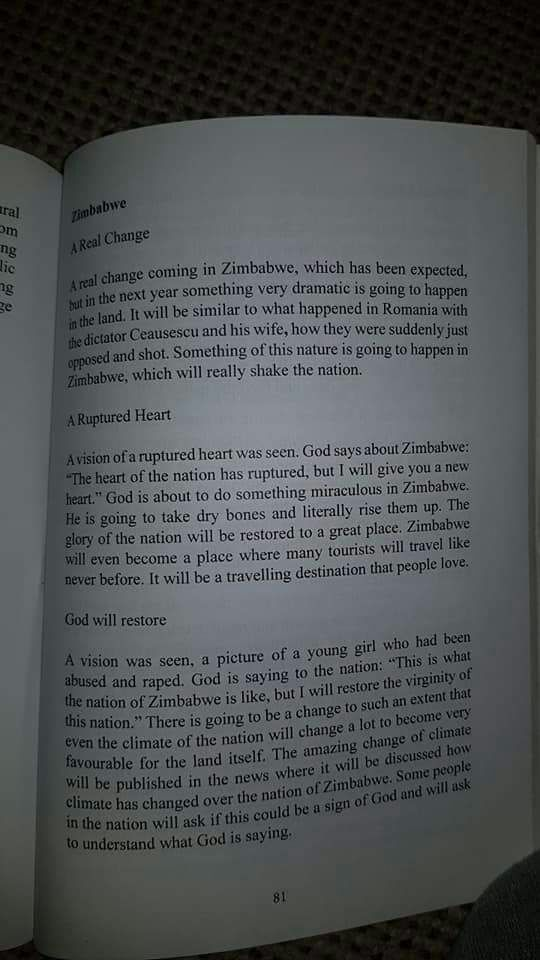 RT @rusIQe: Prophecy about to come alive #Zimbabwe #Peace #change #NotACoup  #ProudlyZimbabwean https://t.co/OoPQdML230