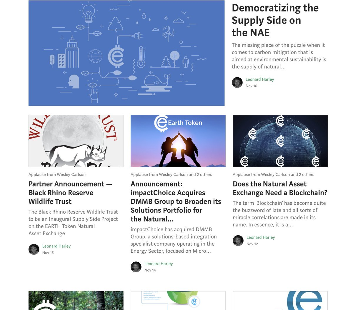 Want to know more about EARTH Token the the vision behind the revolutionary Natural Asset Exchange? Catch up with our blog:  http:// ow.ly/eqXU30gEXvO  &nbsp;   #blog #crypto #ethereum #bitcoin #blockchain #climate #EARTH<br>http://pic.twitter.com/WOm4qDZ4dP