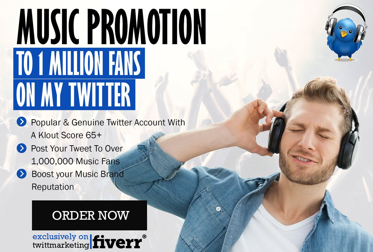 Get Exposure for your #Music or #Artist &#39;s Website  Reach +1 Million Fans &amp; #musiclovers    https://www. fiverr.com/twittmarketing /promote-your-music-with-my-music-twitter-with-476-000-fans &nbsp; …    #musicians #musicbiz<br>http://pic.twitter.com/zBKlCn5Olh
