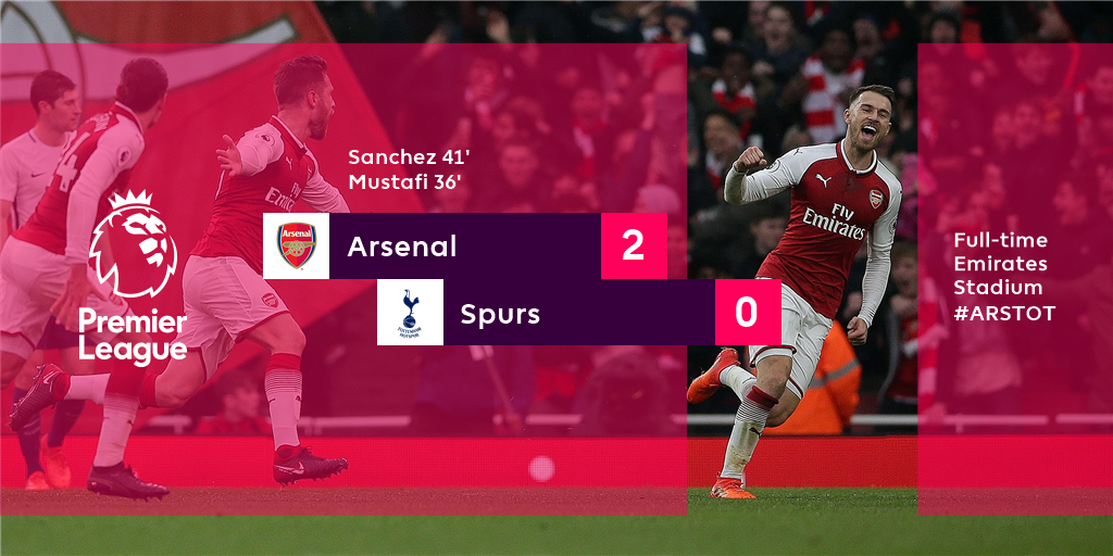 Arsenal claim the #NorthLondonDerby bragging rights  #ARSTOT