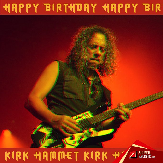 1962: Gitaris andalan Kirk Hammett hari ini berusia 55 tahun. Happy Birthday Kirk Hammet!