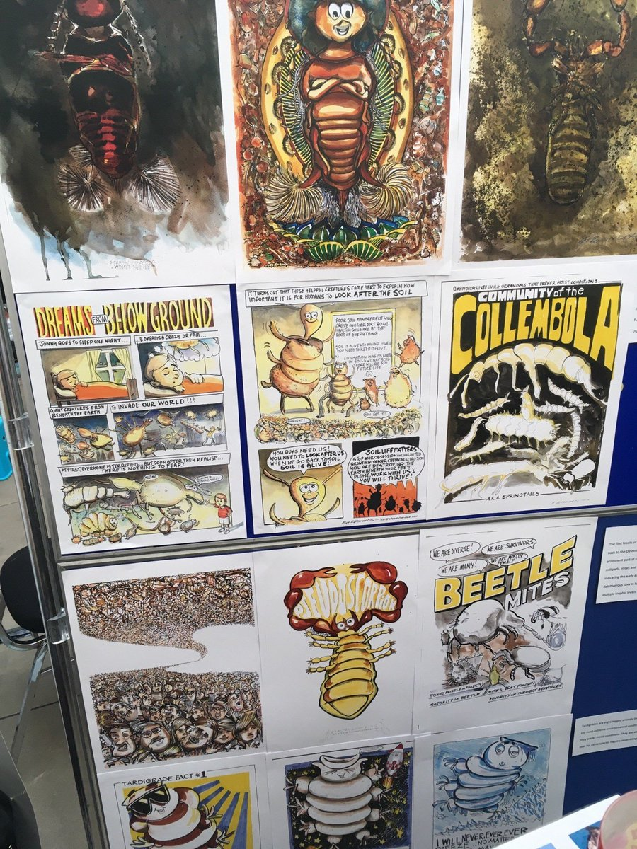 And (if that wasn&#39;t enough) come and see @steadyhandeddie artwork of #soil creepy crawlies @ourdynamicearth @NERCscience #UnEarthed2017.<br>http://pic.twitter.com/QnJOZUTJM2