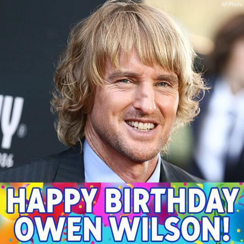 Happy Birthday to actor Owen Wilson!