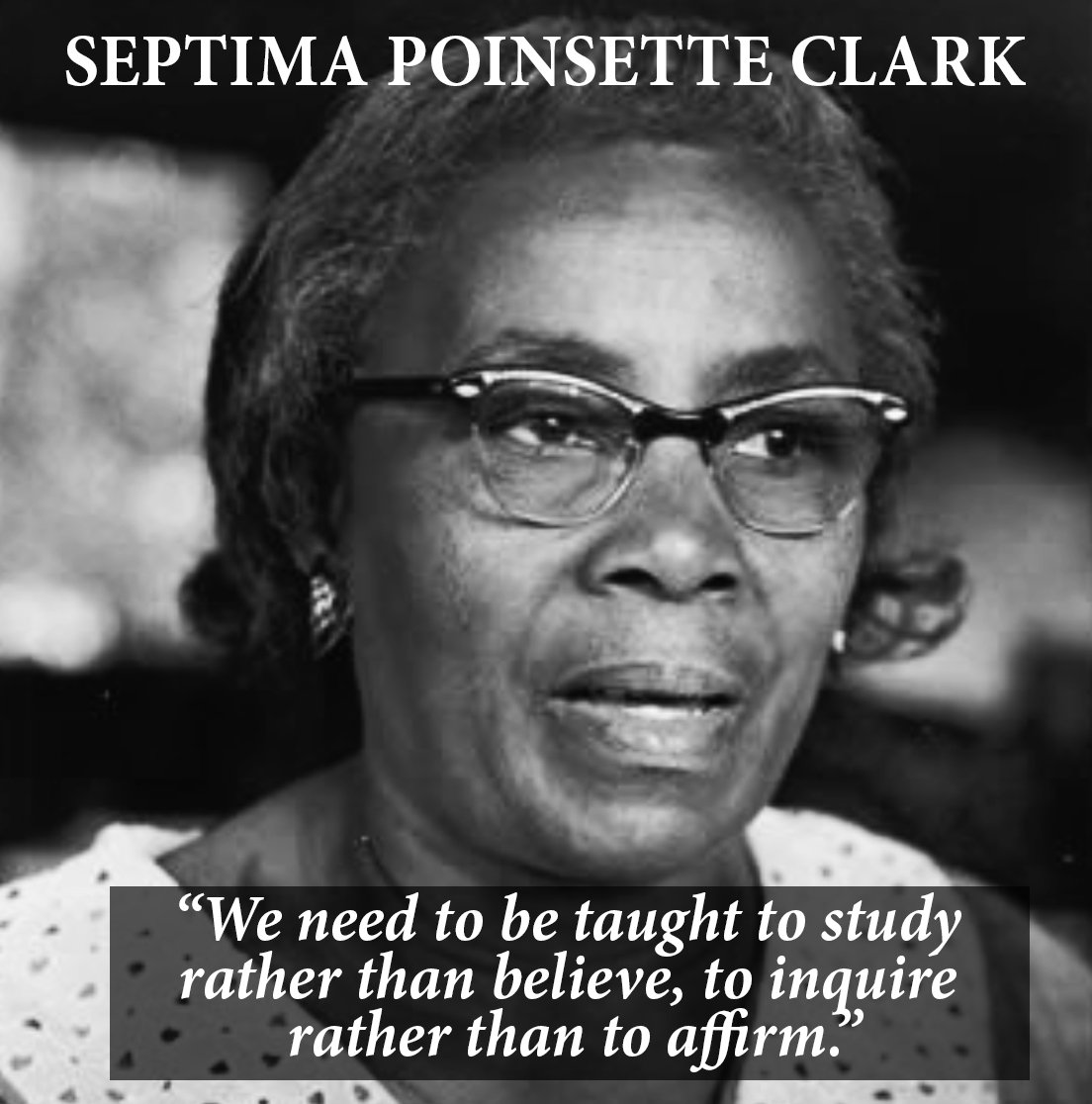 Image result for Septima Poinsette Clark grandmother of civil rights organisations