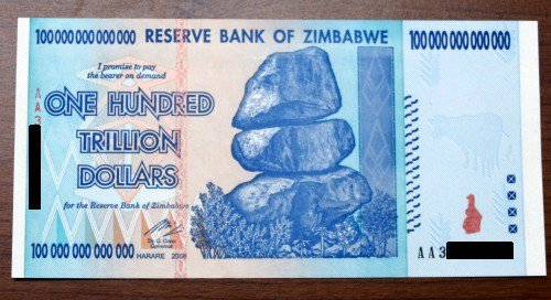 Jeremy Vine On Twitter When I Last Interviewed Robert Mugabe In 1999 It Was 1 To 30 Zimbabwe Dollars Ten Years Later Paid 5 For This