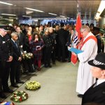 Earlier today we laid a wreath in memory of the 31 people who died in the King's Cross fire, 30 years ago today #kingscross #kx30