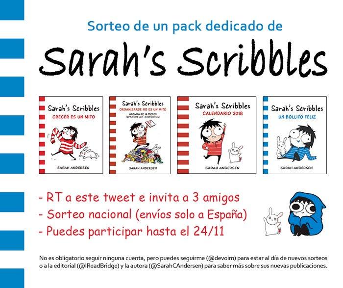 Sorteo y concurso Sarah's Scribbles [Twitter del blog Deja volar tu imaginación]