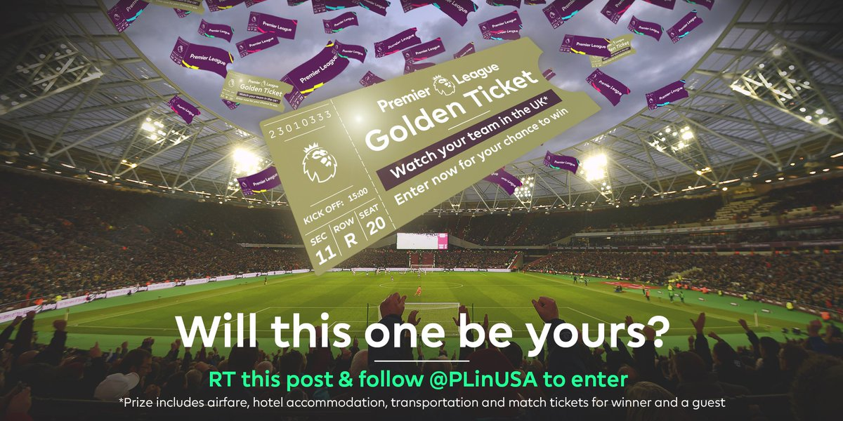 IT&#39;S BACCKKKK! RT &amp; follow and all of this could be yours:   You  Friend    See your #PL club play  #PLGoldenTicketSweepstakes<br>http://pic.twitter.com/AkT1Cr6eJd