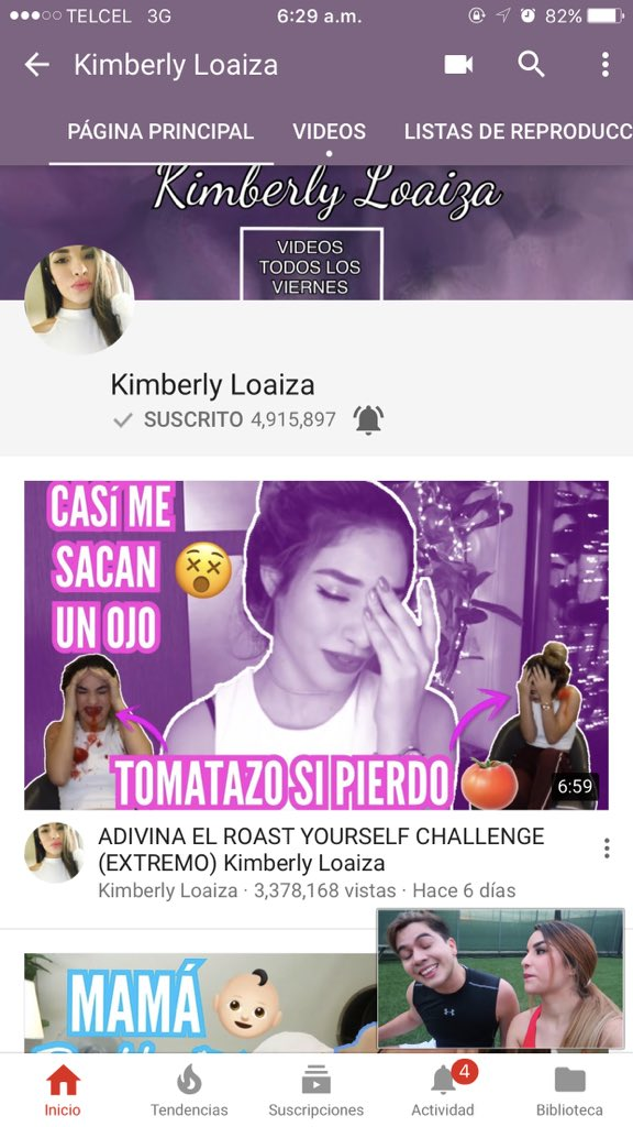 """Kimberly Loaiza 🇲🇽 على تويتر: """"Linduras necesito capturas de pantalla de  que están suscritos a mi canal con notificaciones activas para mandarles  saludos en el video 💖"""""""