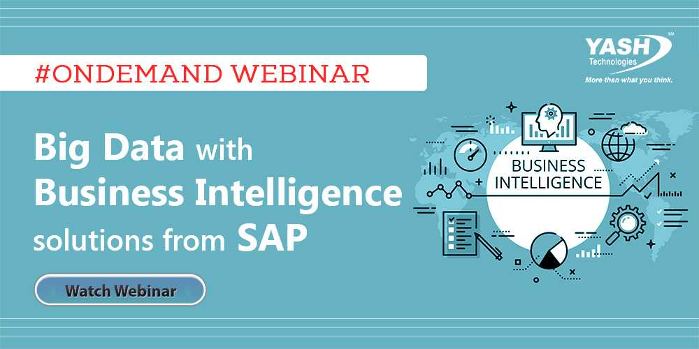 How to make the most of your #BigData with #BusinessIntelligence solutions from #SAP. Watch the on-demand webinar now   http:// ow.ly/ZcdR30gDxJf  &nbsp;   #YASHCareers #Yashtechnologies<br>http://pic.twitter.com/O3pFffX2PB
