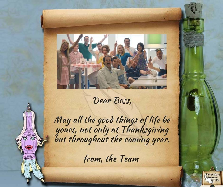 They give you work Then pay you well Sometimes a jerk They give you hell But in the end You&#39;re in their ranks So why not send a note of thanks   http://www. personalizedtreasurescrolls.com  &nbsp;    Not just a &#39;#Message in a #Bottle&#39; More than just a &#39;#Gift&#39;  #Employment #giftideas #Friendsgiving #poem<br>http://pic.twitter.com/kbBpB3db8h