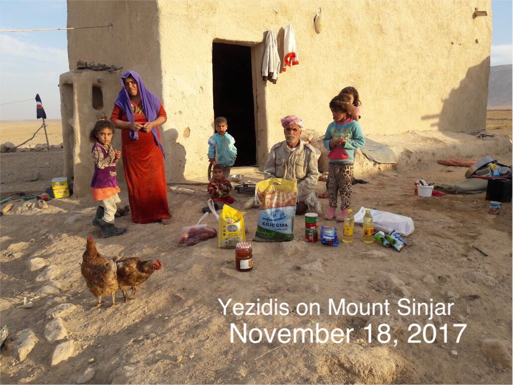 Today 3 #Yezidi families on Mt Sinjar, the father who was disabled received some food from our donors in Toronto.  Please donate, every penny will directly send to them.  https://www. gofundme.com/help-yazidis-o n-mount-sinjar &nbsp; …  #Support #ThankS #GodBless #Yazidis #ISIS #Sinjar #Donate #Ezidi #Iraq #War #Genocide<br>http://pic.twitter.com/4cq7P5U9Rr