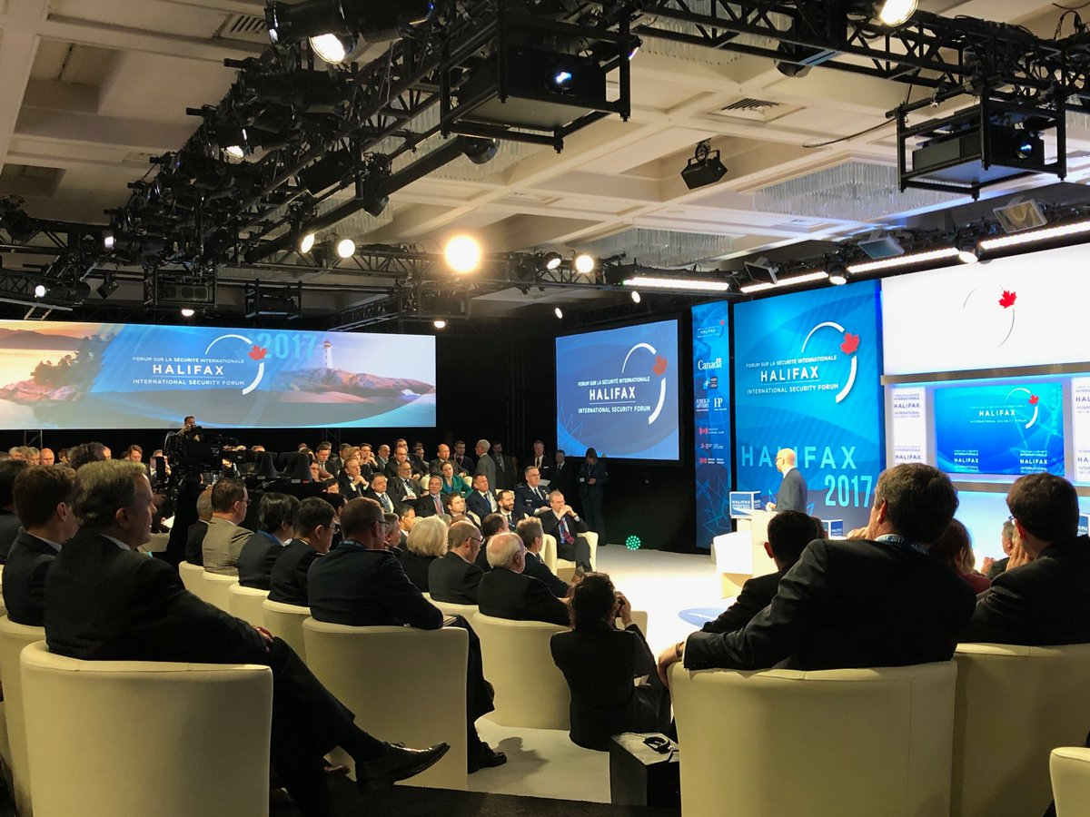 Start of today's discussions at #HISF2017 in Halifax. The cold North Atlantic is just outside.