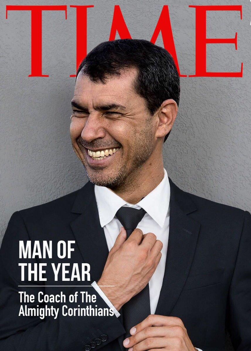 Se o estagiário fizesse a capa da Time, certeza que o Carille seria o homem do ano! #DoCarille #Hep7aDeRespeito