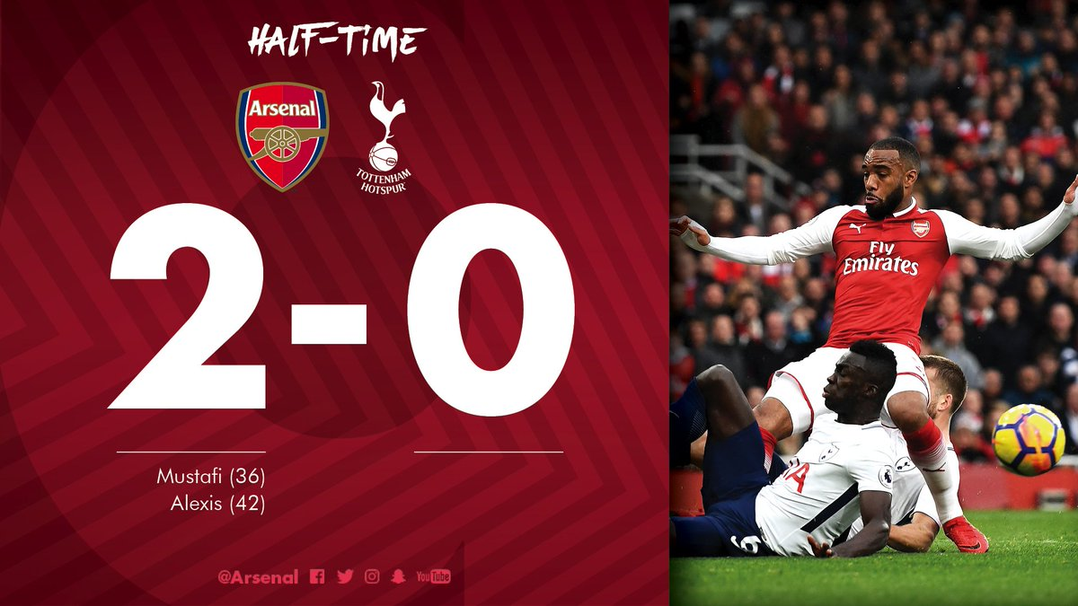 2️⃣ shots on target 2️⃣ goals  A clinical first-half performance 🔴