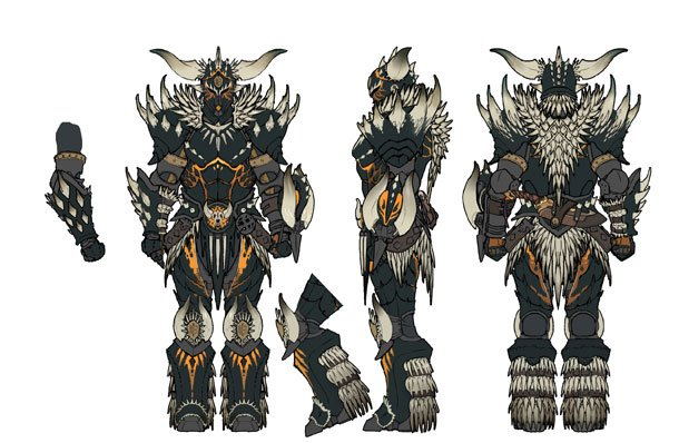 Toro On Twitter Concept Art For Nergigante S Armor Set Male In