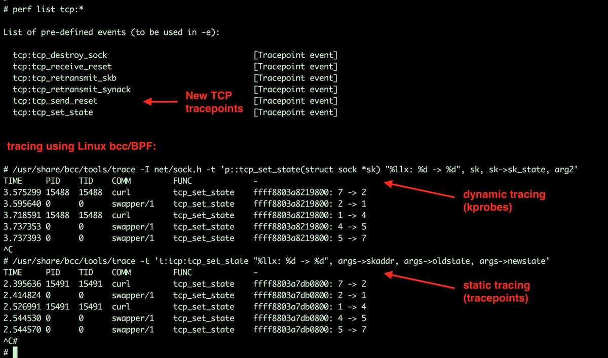 More TCP tracepoints land in Linux (net-next)! Thanks Song Liu (Facebook) #linux #netdev<br>http://pic.twitter.com/J7o4JgN6Vm