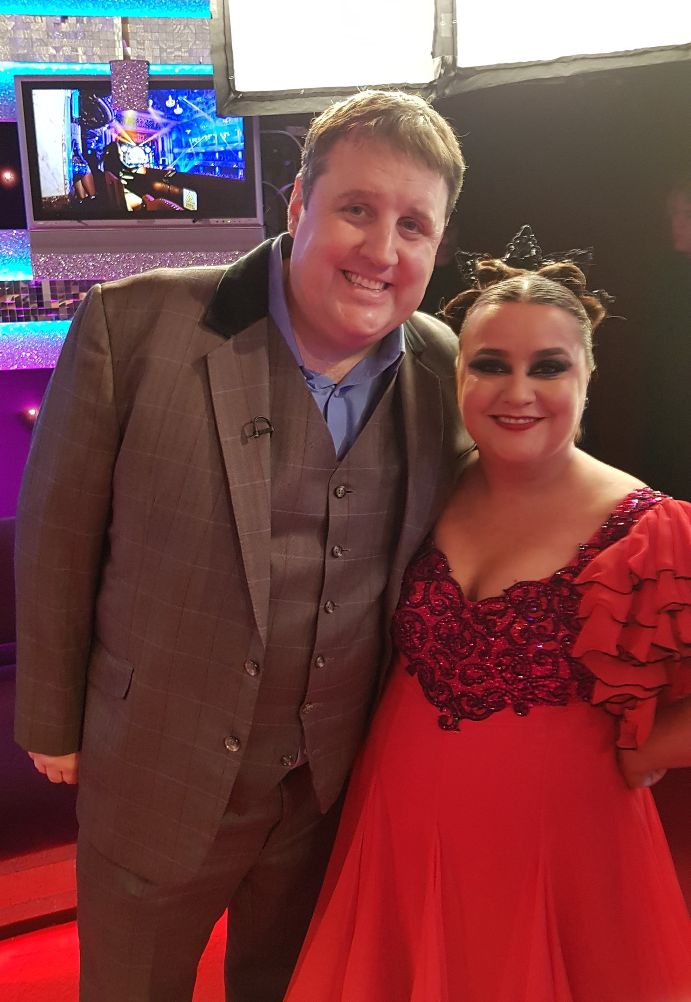 When one comedy legend meets another comedy legend @peterkay_co_uk @SusanCalman  #Strictly #Blackpool https://t.co/Mvedi3lbwC