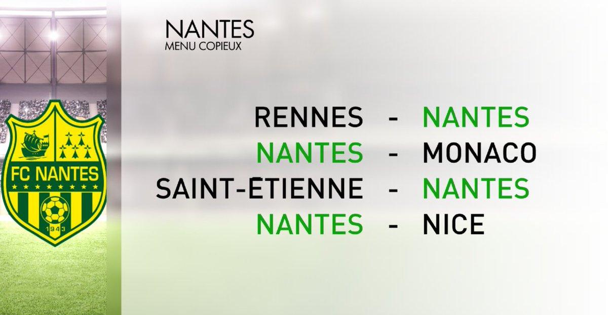 Après l'ogre @PSG_inside, le @FCNantes de #Ranieri aura affaire notamment au champion de France en titre @AS_Monaco d'ici la trêve. #PSGFCN #Ligue1 #Sportsweekend 🇫🇷🏆⚽️