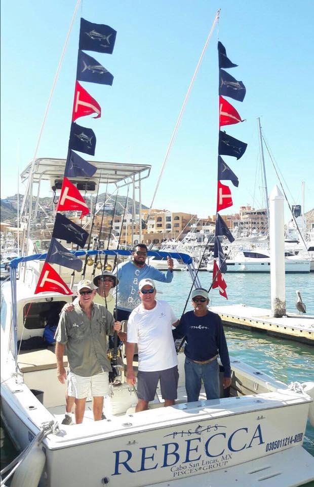 Cabo, MX - Rebecca released 12 Striped Marlin.