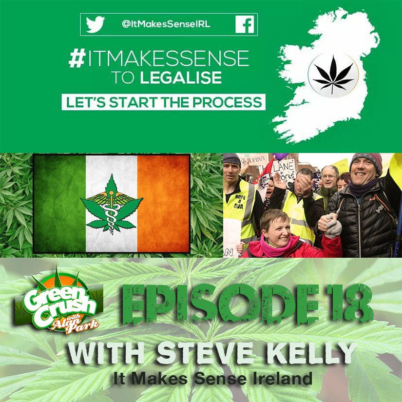 Episode 18 Avail Now! @alancomic is joined by @steokelly of @ItMakesSenseIRL to discuss the road to #Cannabis legalization in #Ireland @YouTube  https:// youtu.be/xFhpfc1liJM  &nbsp;   @iTunes  https:// itunes.apple.com/ca/podcast/gre en-crush-with-alan-park-episode-18/id1260261355?i=1000394963344&amp;mt=2 &nbsp; …  @GooglePlay  https:// play.google.com/music/m/Dozjqd mnc3i2oak3ycxtivs2r6u?t=Green_Crush_With_Alan_Park_-_Episode_18-Green_Crush_With_Alan_Park &nbsp; … <br>http://pic.twitter.com/ka24JZKvsq