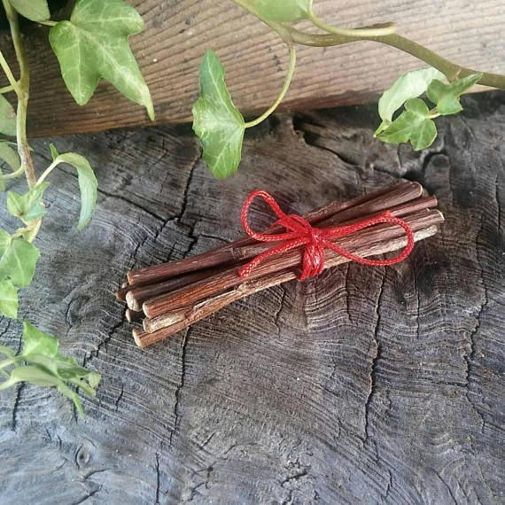 Nine Rowan twigs bound by red, protection from morn til back in your bed   http:// etsy.me/2zeEuS0  &nbsp;    #ATSocialMedia    #TWDA   #ATSOPRO  #UKHashtags  #SocialMedia  #HandmadeSeller  #Crafturday<br>http://pic.twitter.com/sXYAXq95jQ