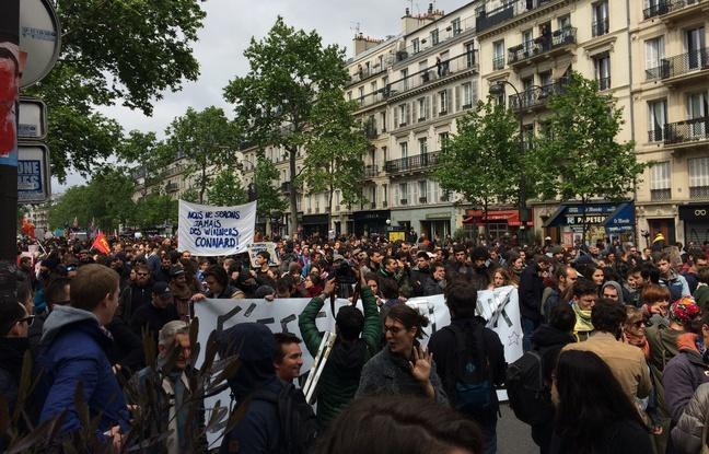 Une «marche sur l'Elysée contre la politique anti-sociale» a dégénéré https://t.co/vPuc5F26ni