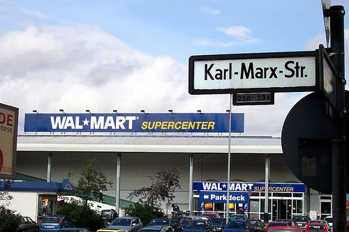 karl marx and walmart Marx was right: five surprising ways karl marx predicted 2014 today, mom-and-pop shops have been replaced by monolithic big-box stores like walmart.