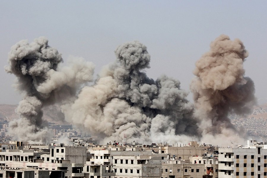 ВИДЕО удара по ИГИЛ в Сирии https://t.co/8mkFhGyJdI