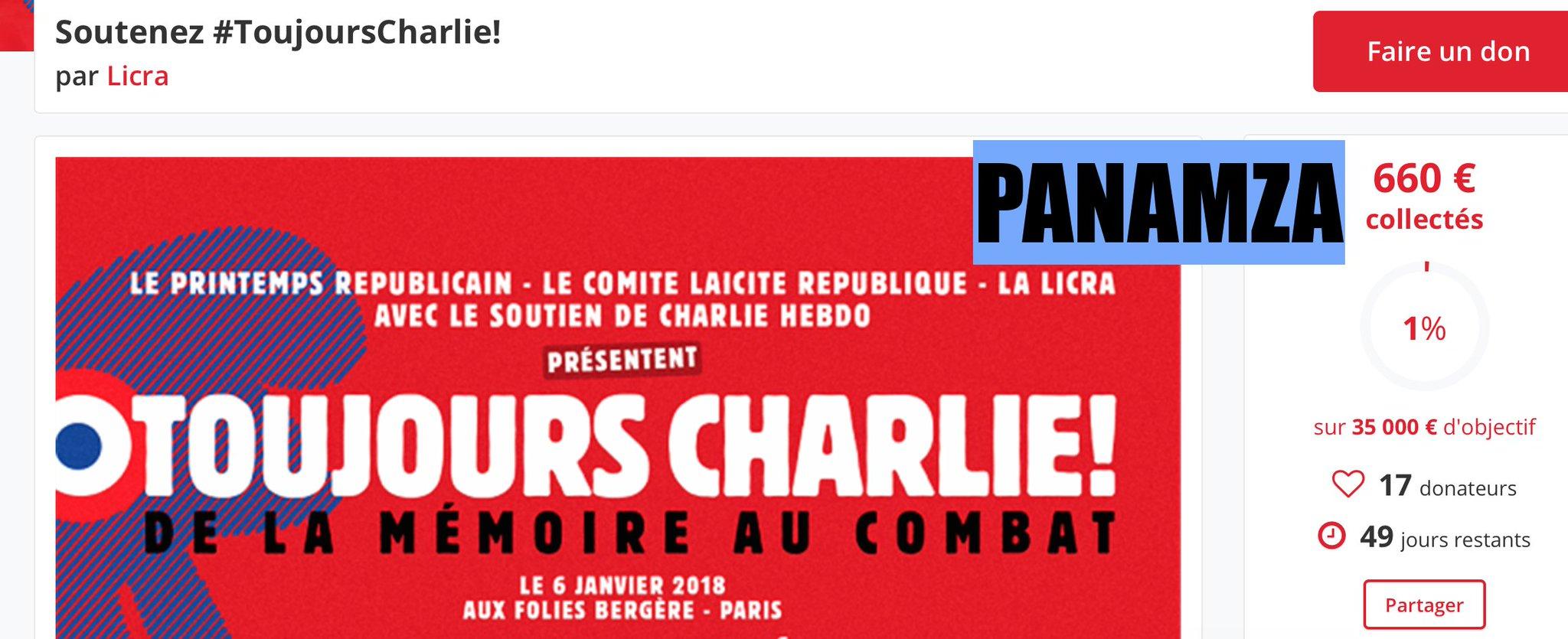 La blague du jour : les Charlie vous demandent 35 000 euros pour s'auto-célébrer