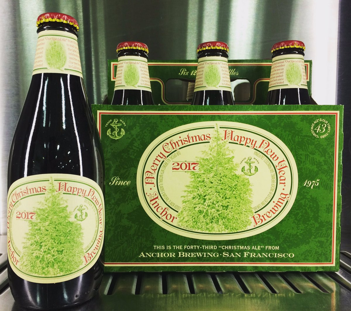 toffee and roasted nuts and subtle hints of honey and herbal spice this years brew marks the 43rd annual release of this anchor tradition new tree - Anchor Brewing Christmas Ale