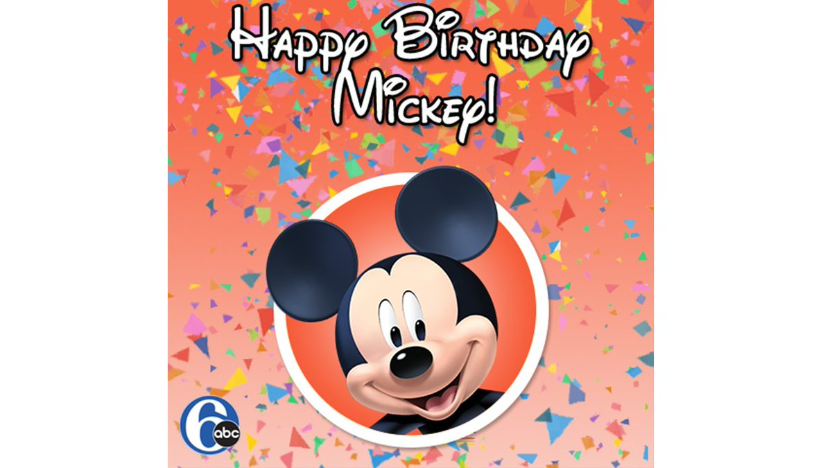 Happy birthday to the one and only Mickey Mouse!