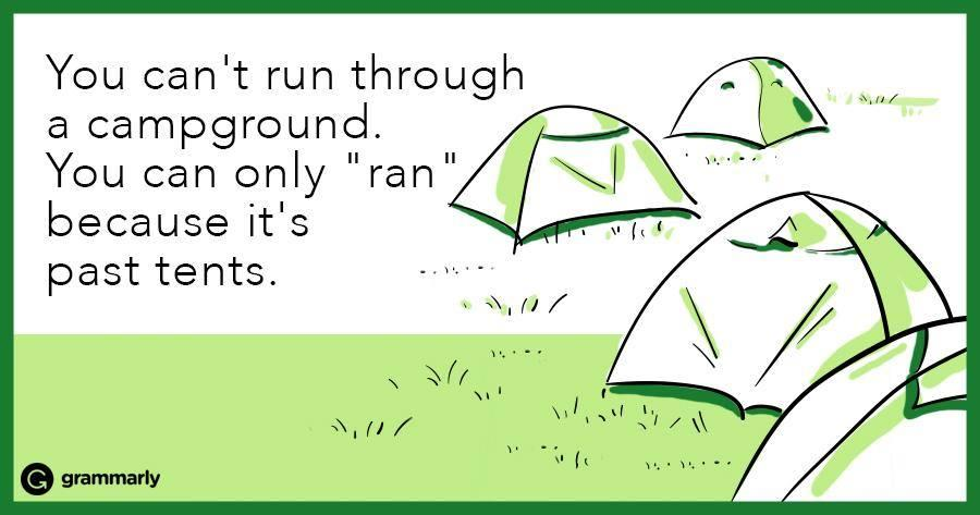 Grammar is in tents. #amwriting <br>http://pic.twitter.com/2ZI9Vj6V4i