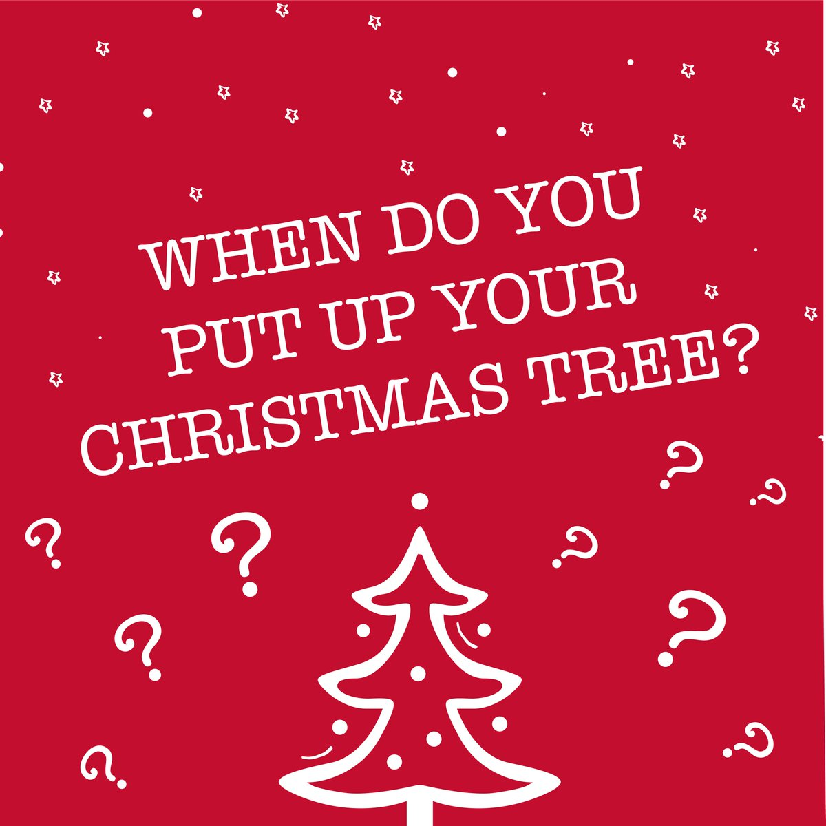 poundworld on twitter were seeing pictures of peoples homes with the christmas tree up what do you think far too early when do you put up your - When Should You Put Up Your Christmas Tree