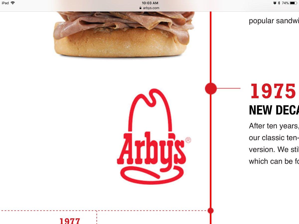 Arbys logo looks like a dick