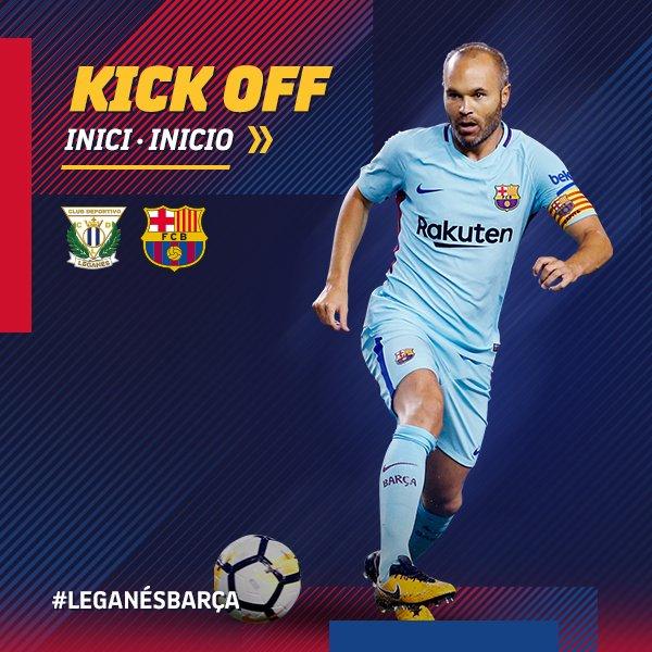 📍⚽️ Começa o #LeganésBarça no estádio Butarque (@LaLiga)  💪#ForçaBarça 🔵🔴 #FCBLive
