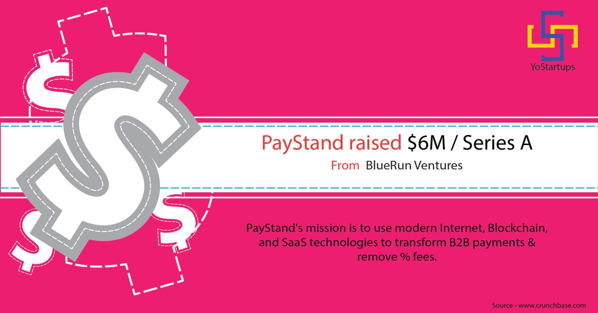 Congratulations @paystand for raising $6M from @bluerunventures   #StartupFunding #YoStartups #VC #VentureCapital #B2B #Bitcoin #Fintech #Payments <br>http://pic.twitter.com/P9UuNcE5zQ