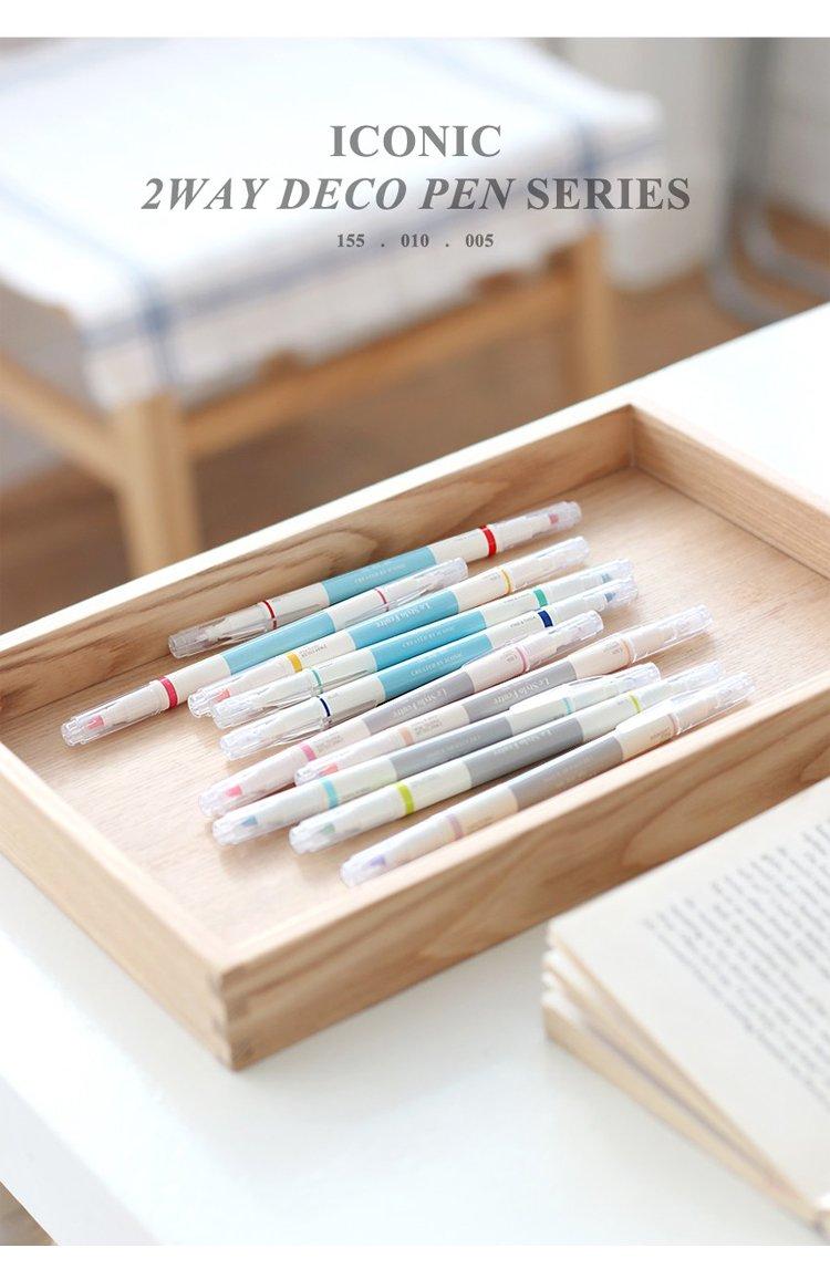 💙ICONIC deco pen ของเกาหลี 💛  มี 3 เซต 3 เฉด น่าเล่นมากเลย  #รีวิวเครื่องเขียน #Popsicleidea #ปากกาสี https://t.co/lpN25zavWV