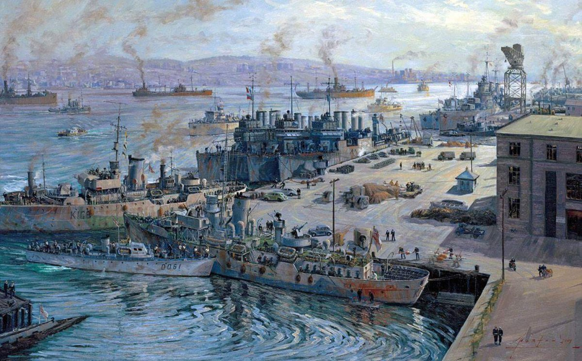 During WW2 the port of Halifax was key to the convoys across the Atlantic that made defeat of Hitler possible.