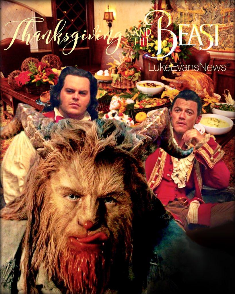 Beauty and the Feast? Five days to Thanksgiving... #LukeEvans #BeautyandtheBeast #Thanksgiving #Gaston #JoshGad #DanStevens<br>http://pic.twitter.com/mnkjVvSD66