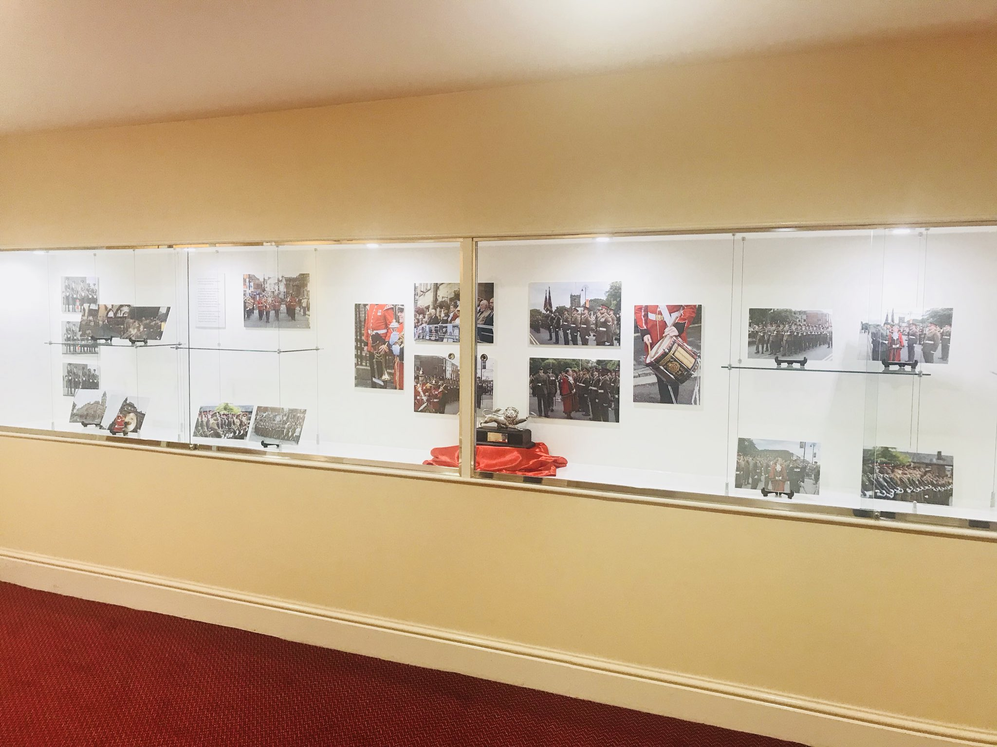 The Lions Of England display at Chorley Town Hall @LANCS_REGT @ChorleyCouncil https://t.co/XEkuproWUg